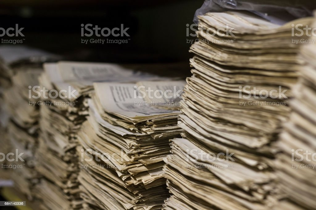 newspaper archive stock photo