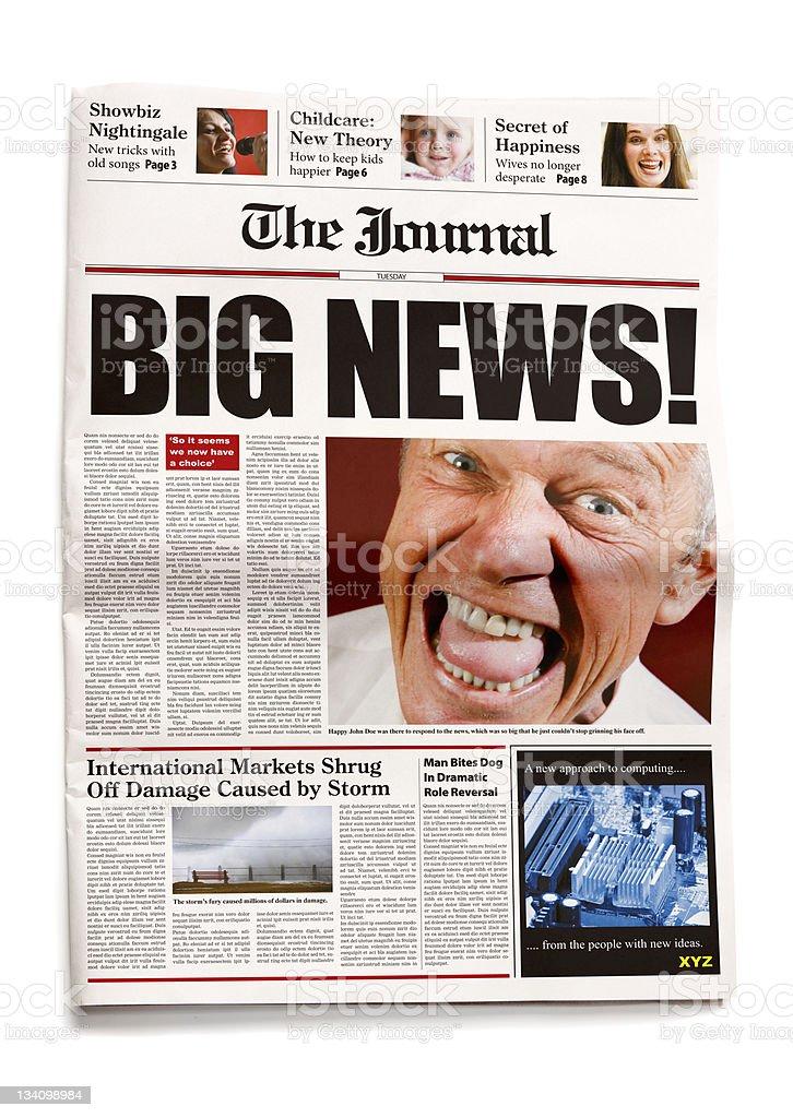 Newspaper: Big news! royalty-free stock photo