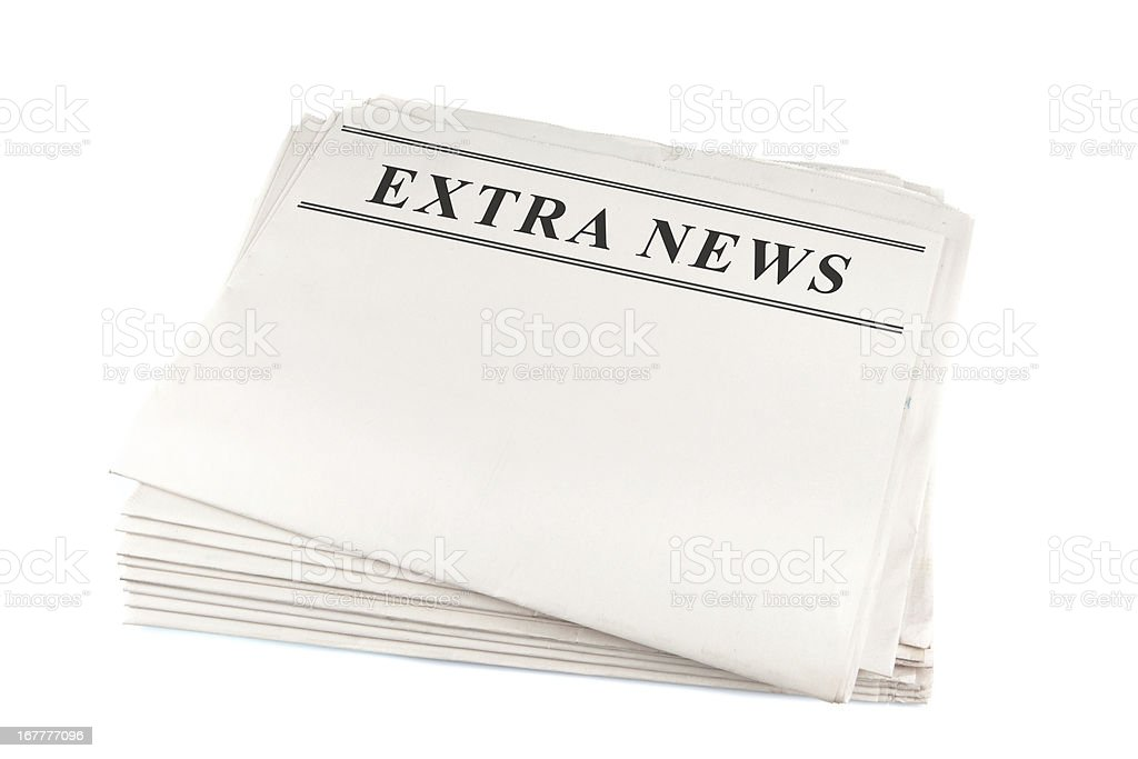 Newspaper blank royalty-free stock photo