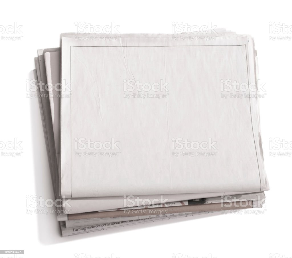 Newspaper Blank stock photo