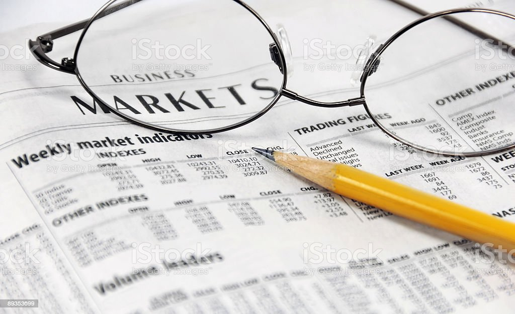 Newspaper Business Market Report royalty-free stock photo