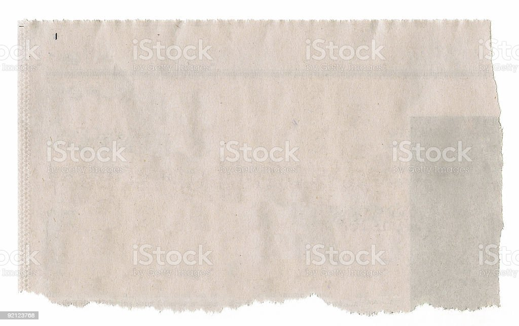Newspaper Clipping stock photo