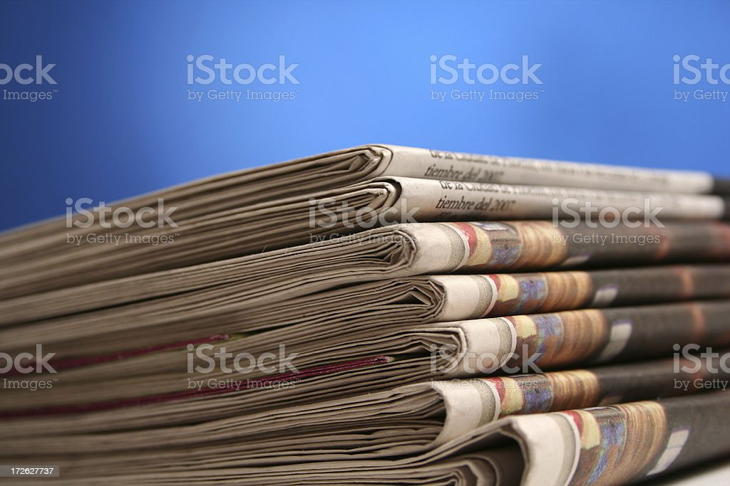 Newspaper close up royalty-free stock photo