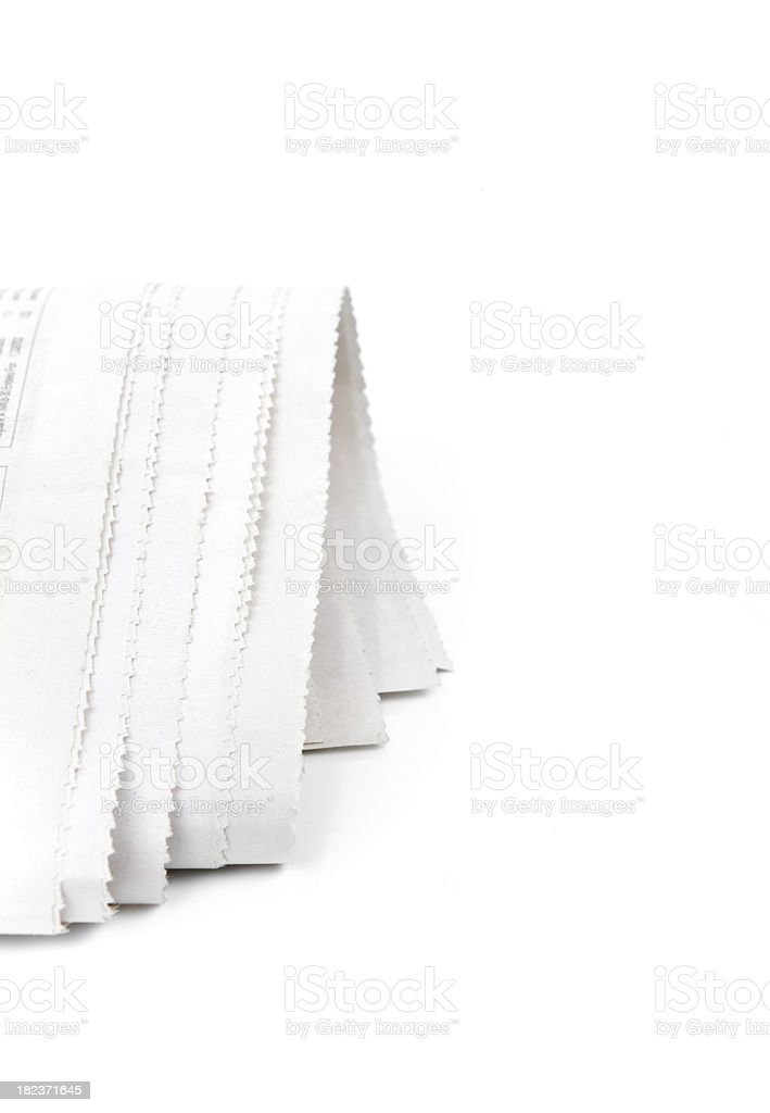 Newspaper Curl royalty-free stock photo
