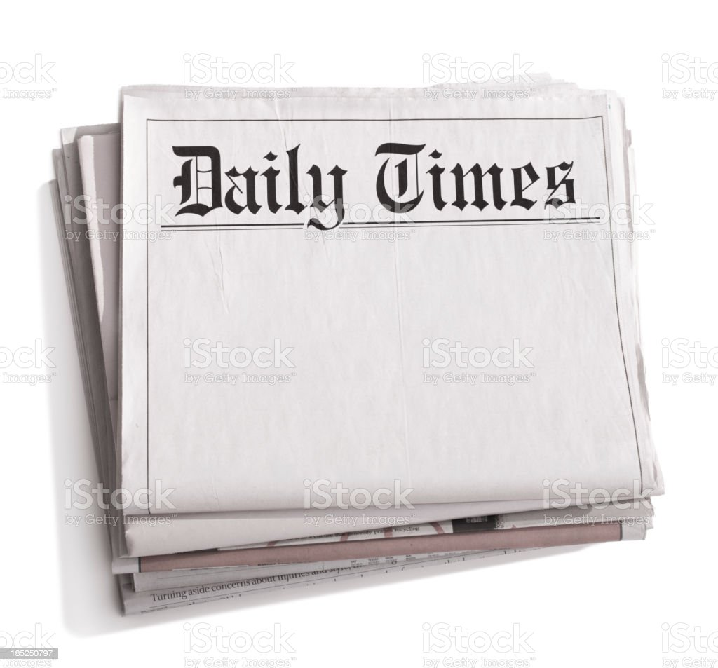 Newspaper Daily Times royalty-free stock photo