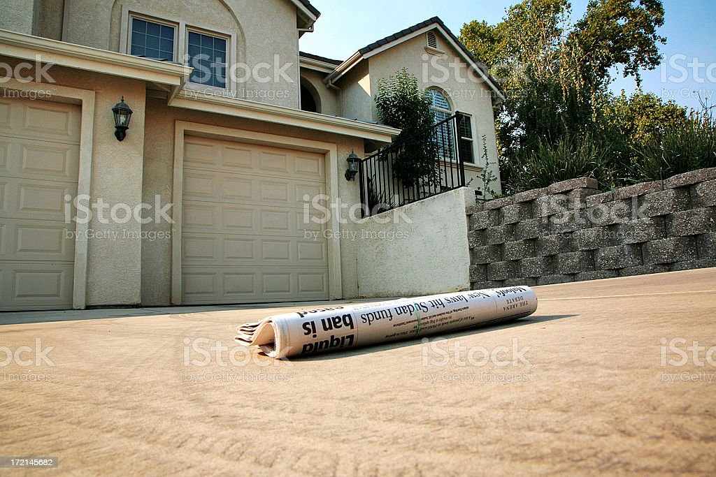 Newspaper Delivered royalty-free stock photo