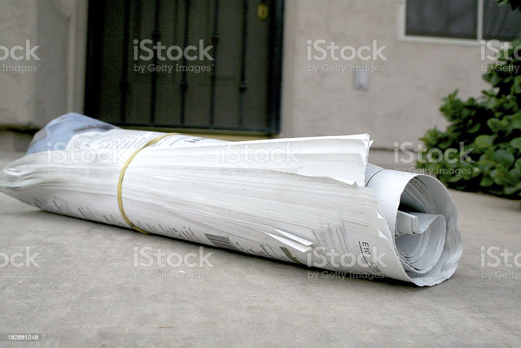 Newspaper delivery royalty-free stock photo