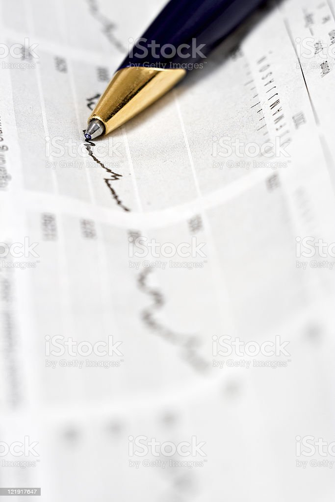 newspaper & finance royalty-free stock photo