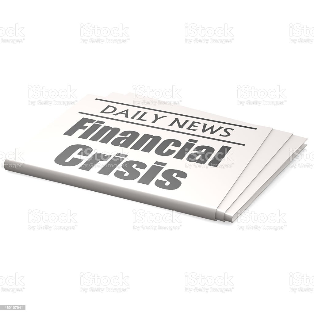 Newspaper financial crisis stock photo