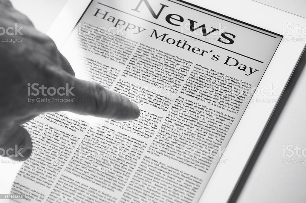 Newspaper for Mother's Day royalty-free stock photo