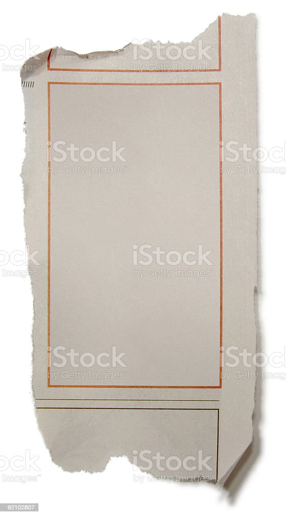 Newspaper Frame stock photo