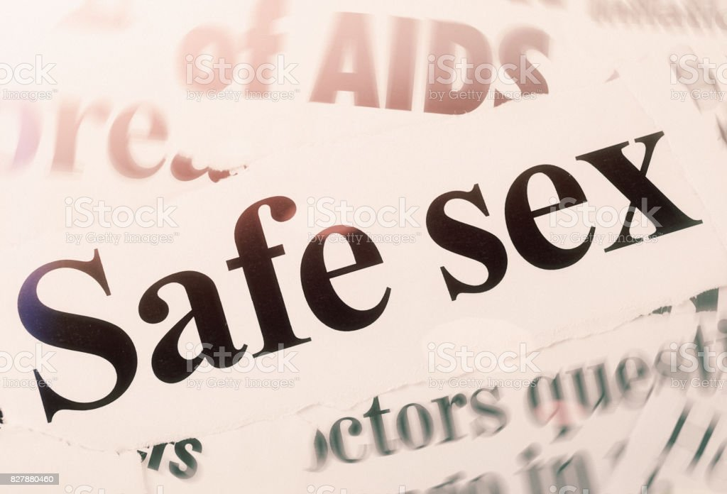 Newspaper headlines on Safe sex and related issues stock photo