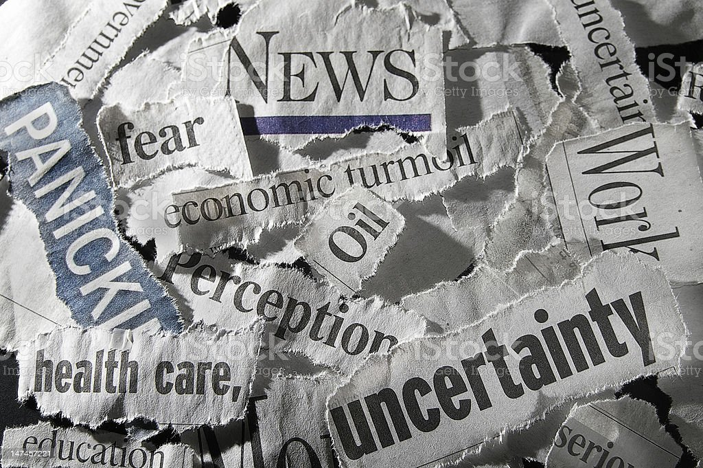 newspaper headlines royalty-free stock photo