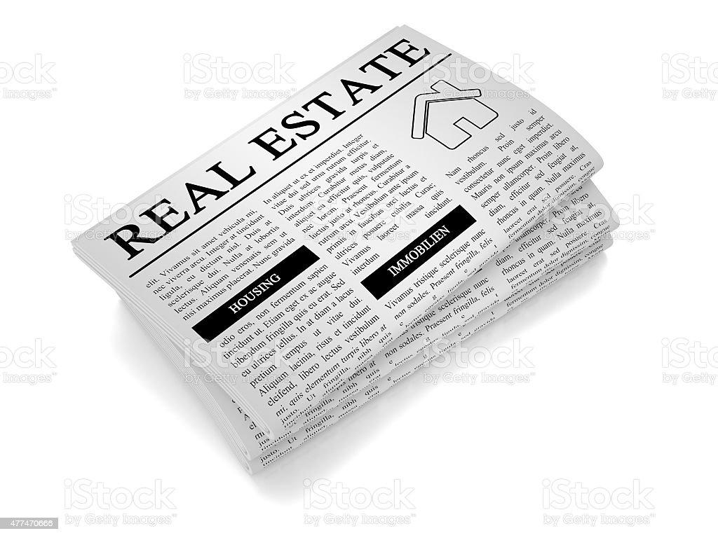 Newspaper Housing stock photo
