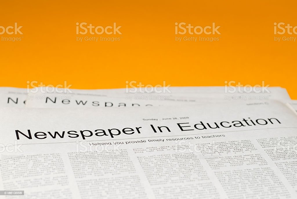 Newspaper In Eduction stock photo