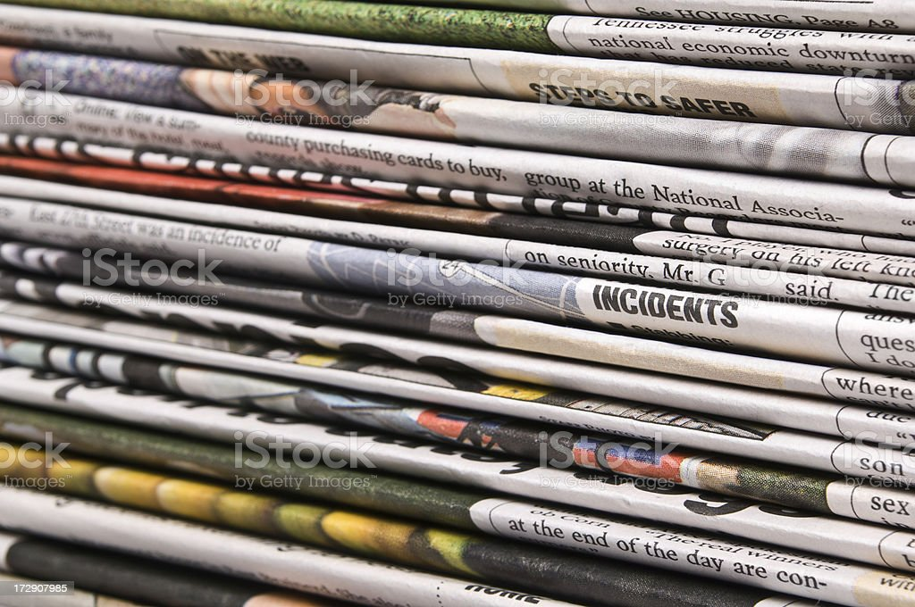 Newspaper Incidents royalty-free stock photo