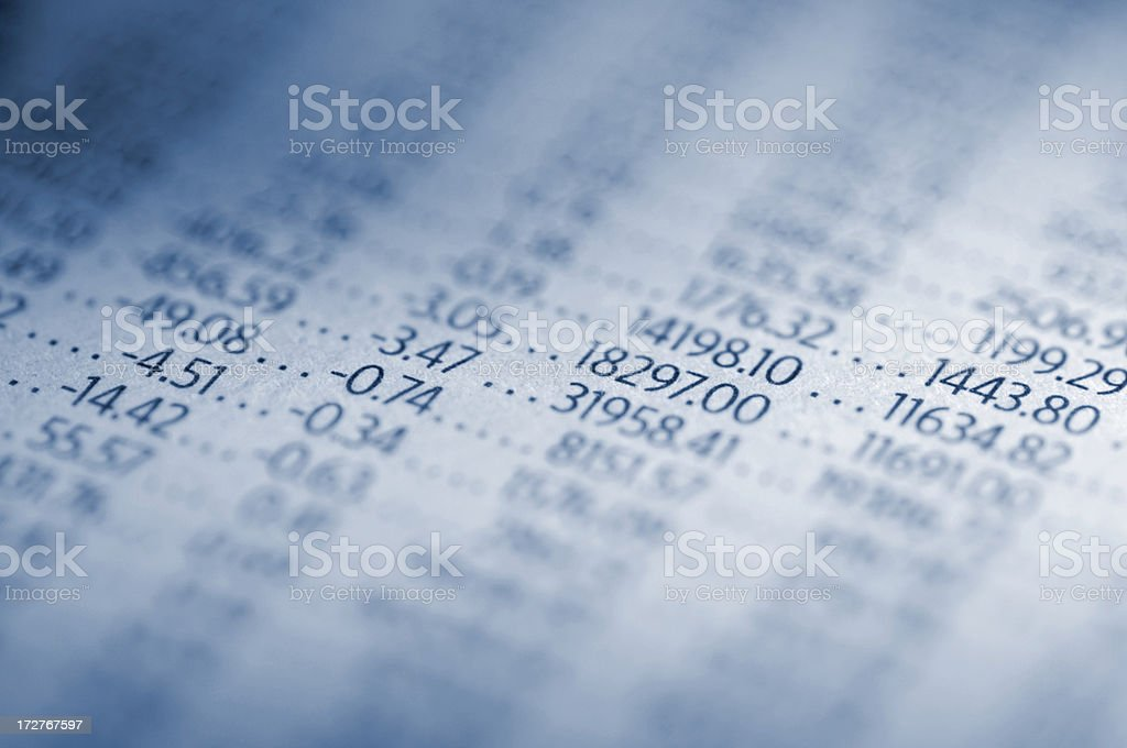newspaper info royalty-free stock photo