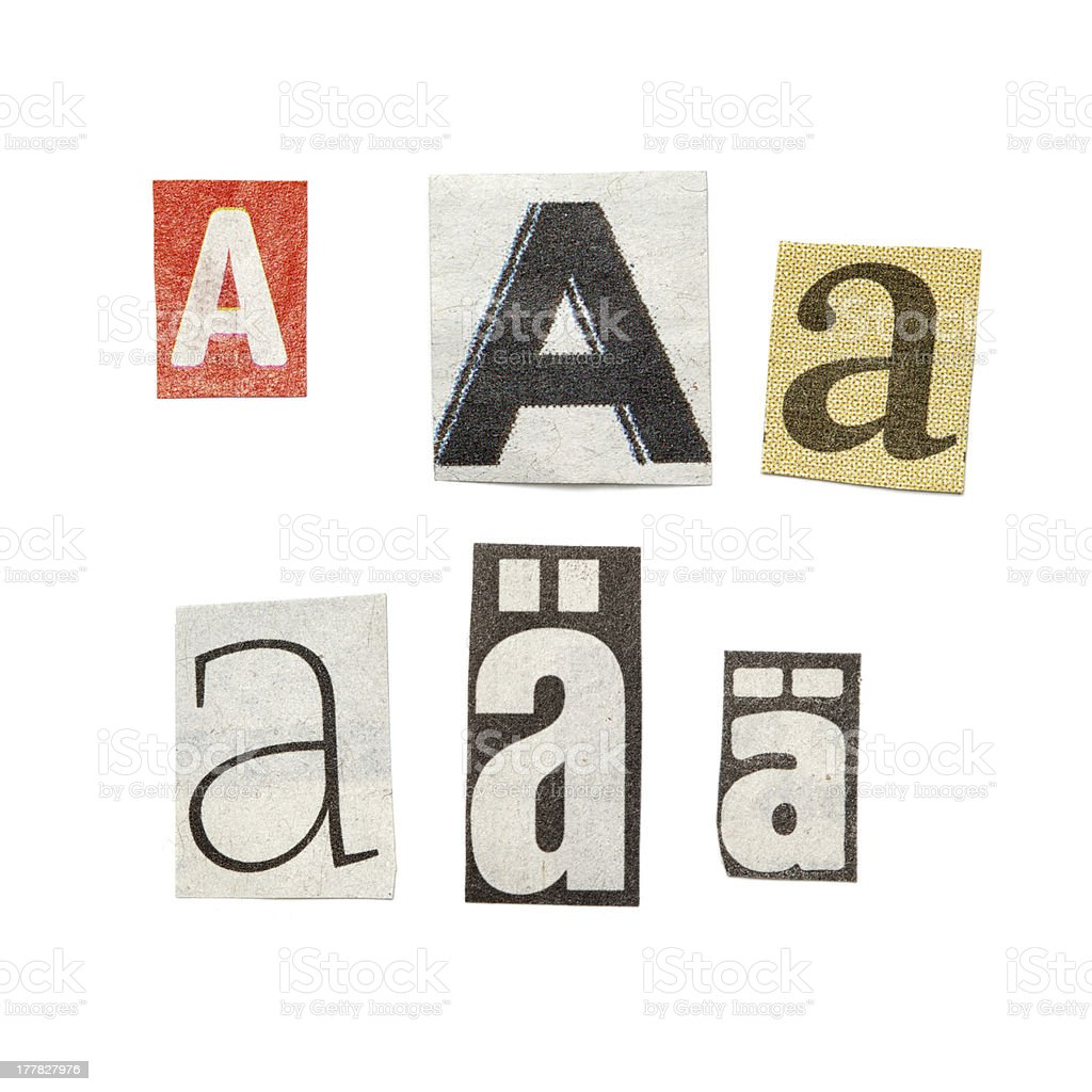Newspaper Letters royalty-free stock photo