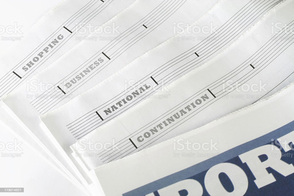 Newspaper pages stock photo
