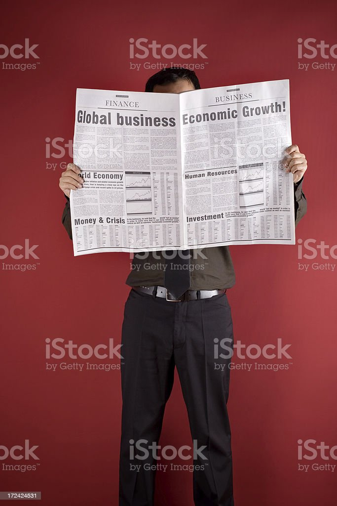 Newspaper royalty-free stock photo