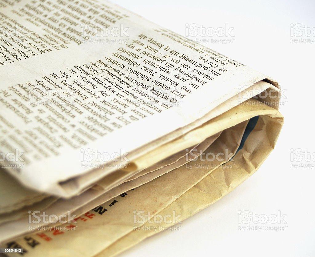 newspaper #2 stock photo