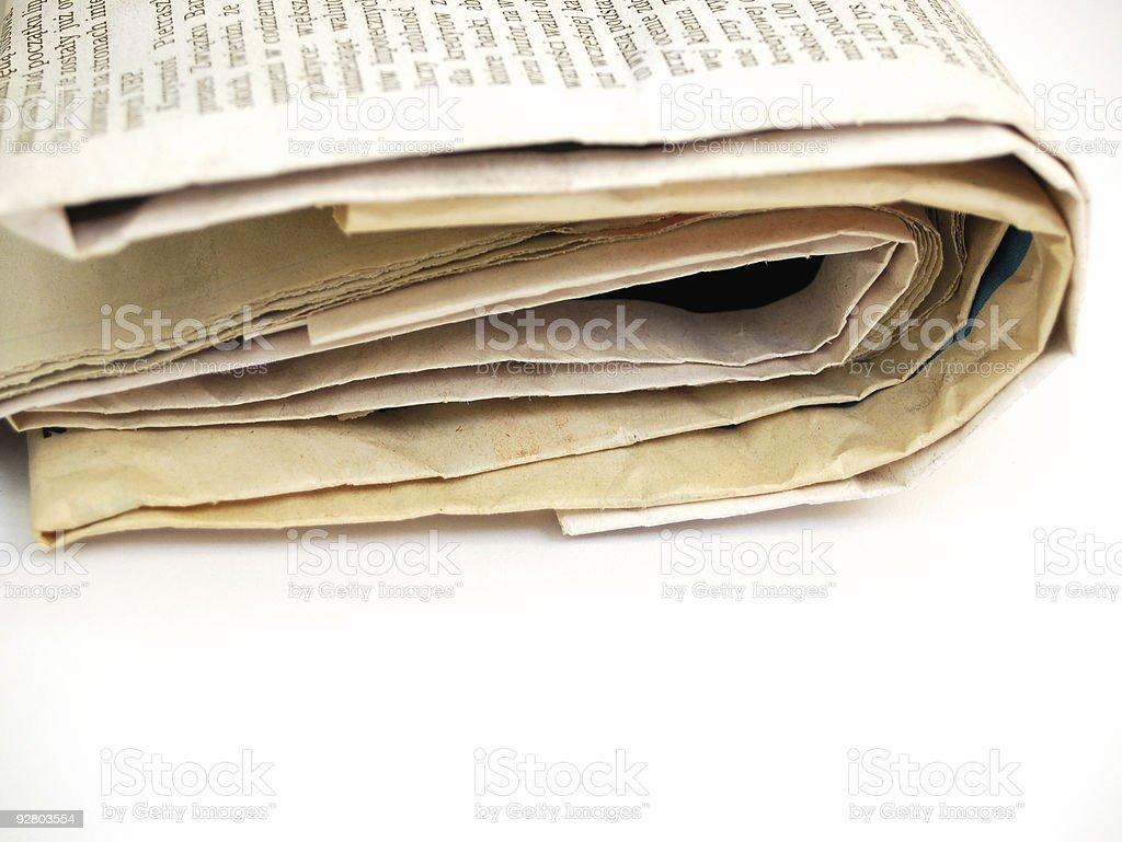 newspaper #3 stock photo