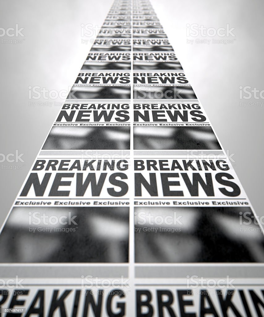 Newspaper Press Run stock photo