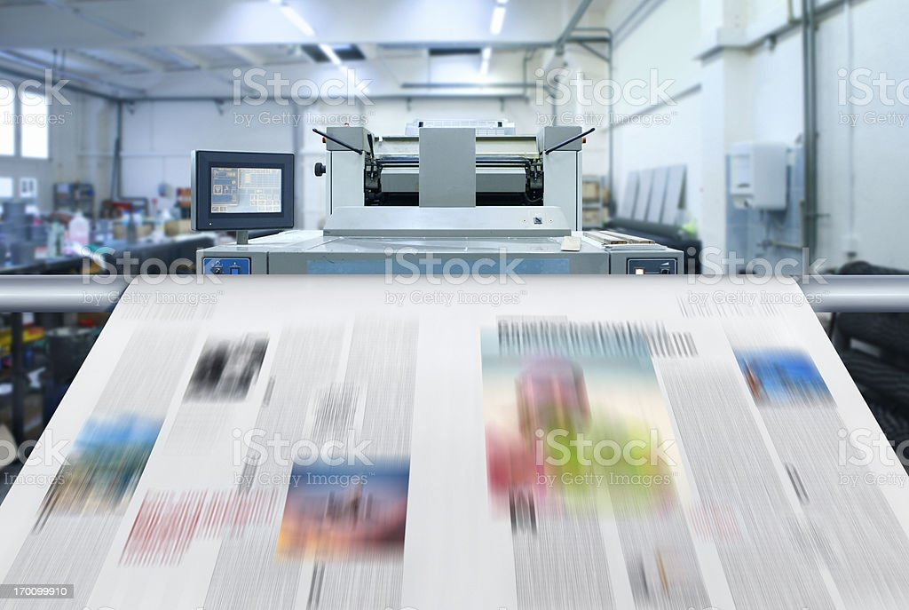 Newspaper printing stock photo