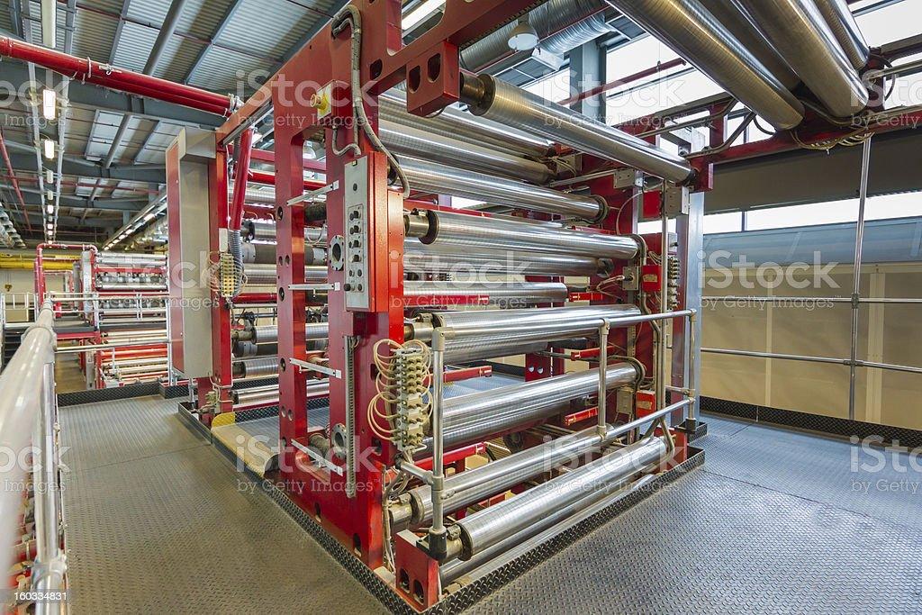 Newspaper Printing Press royalty-free stock photo