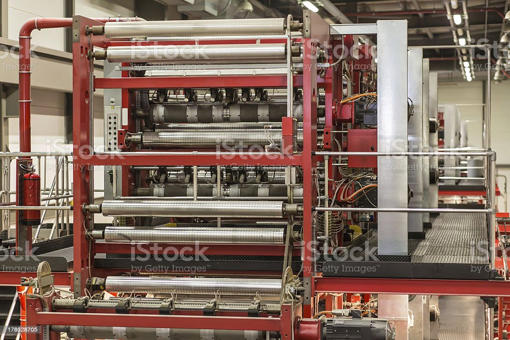 Newspaper Printing Press stock photo