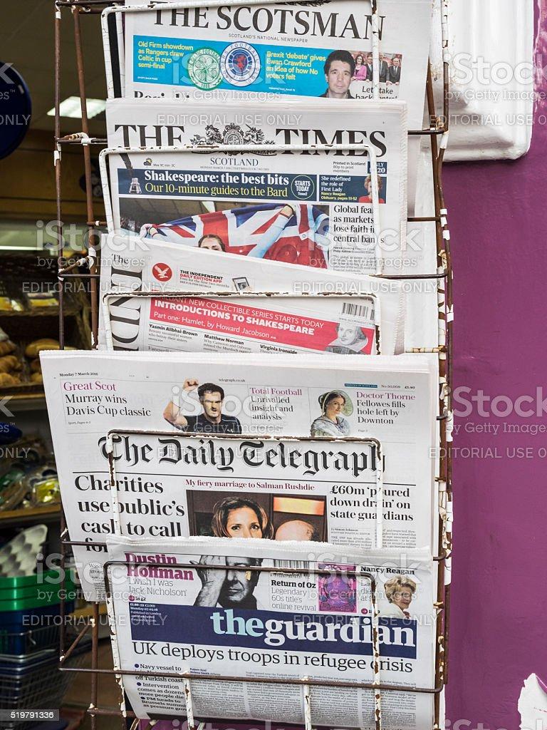 Newspaper Rack stock photo