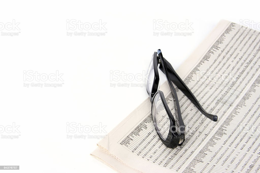 Newspaper Reading stock photo