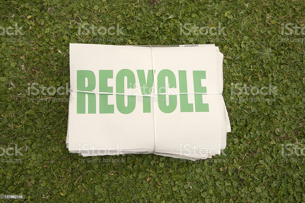 Newspaper  ready  to be recycled royalty-free stock photo