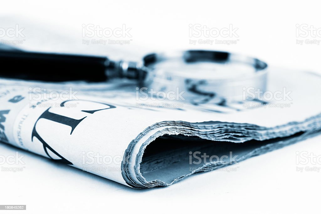 Newspaper research royalty-free stock photo