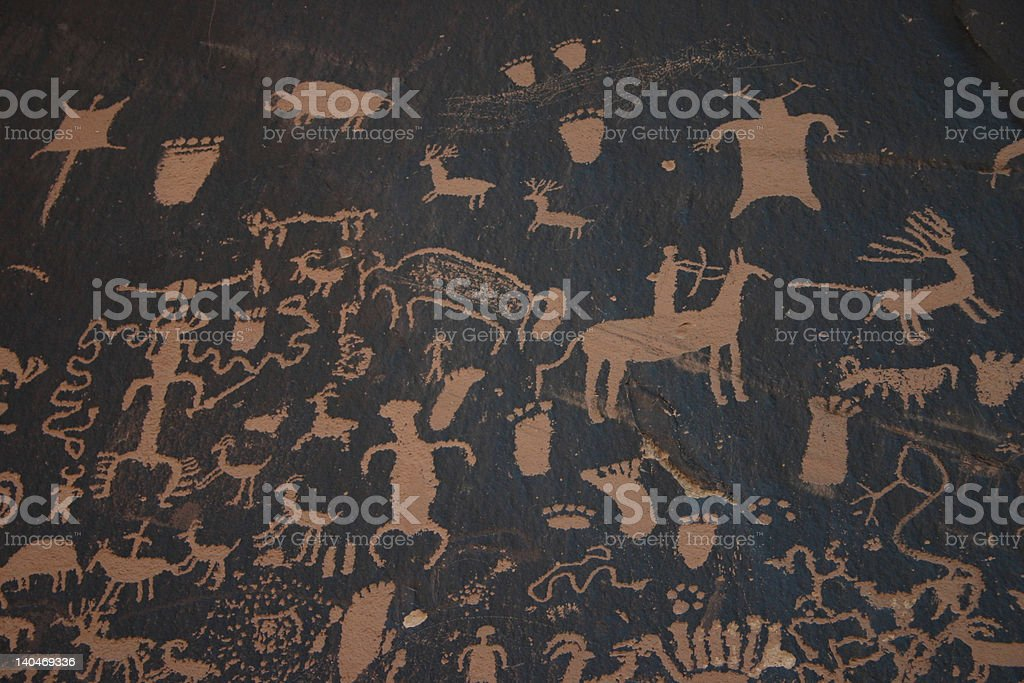 NewsPaper Rock Canyonlands royalty-free stock photo
