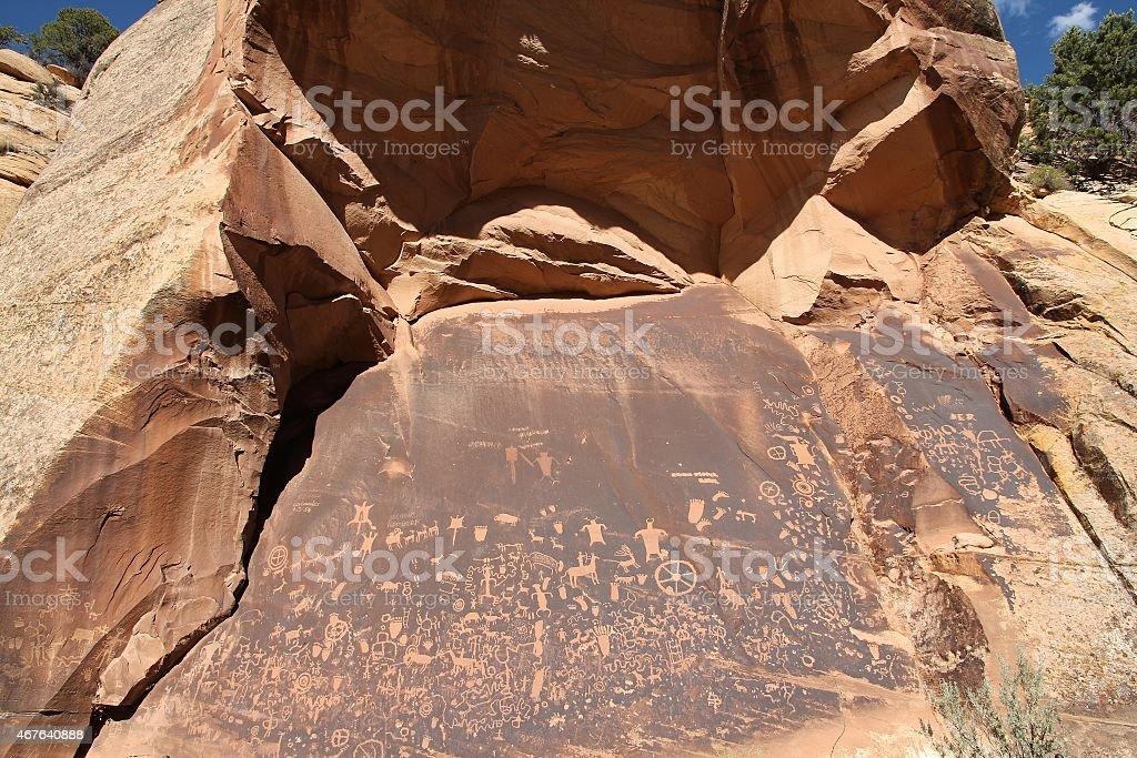 Newspaper Rock stock photo