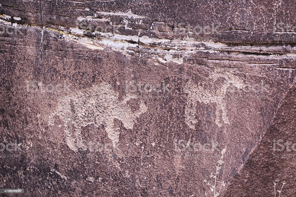 Newspaper Rock, Southeast Utah stock photo