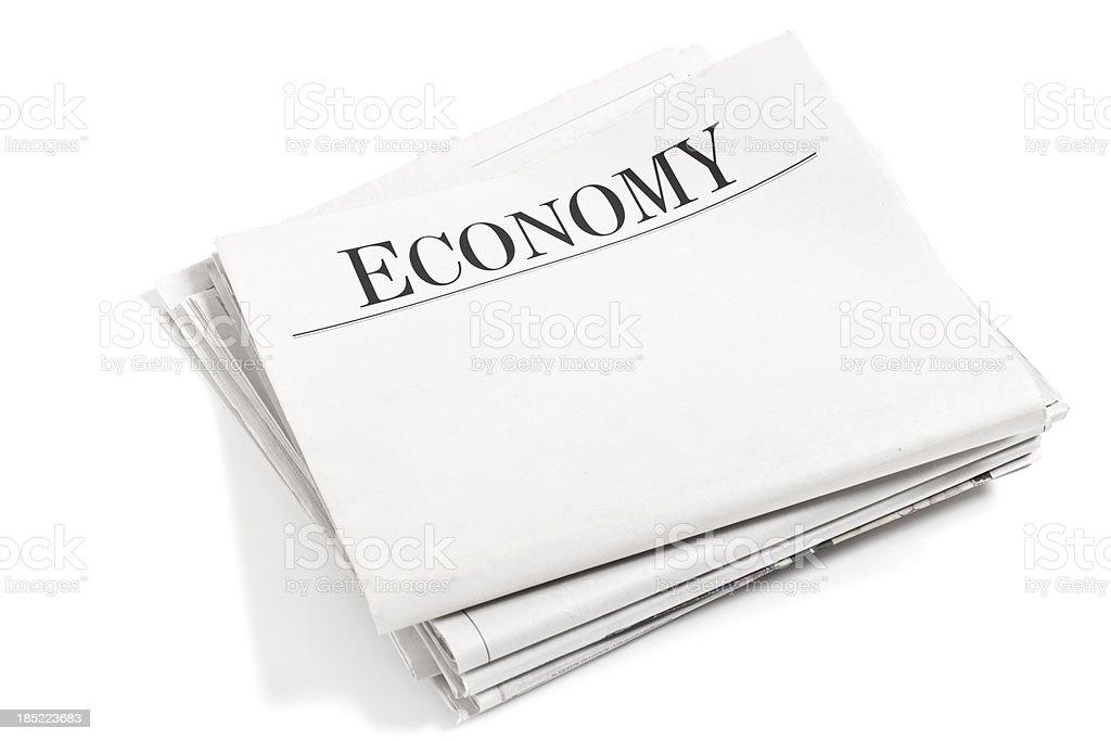 Newspaper Section Economy stock photo
