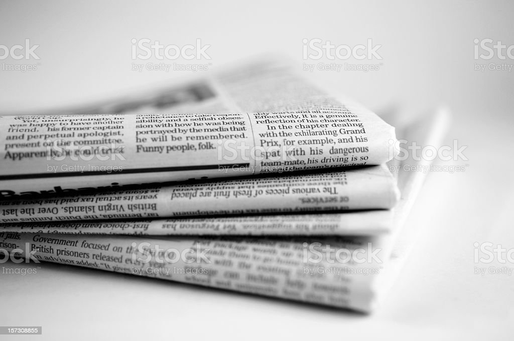 Newspaper Series stock photo