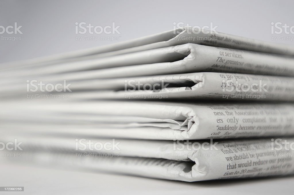 newspaper series stock photo