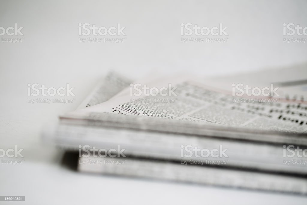 newspaper series royalty-free stock photo