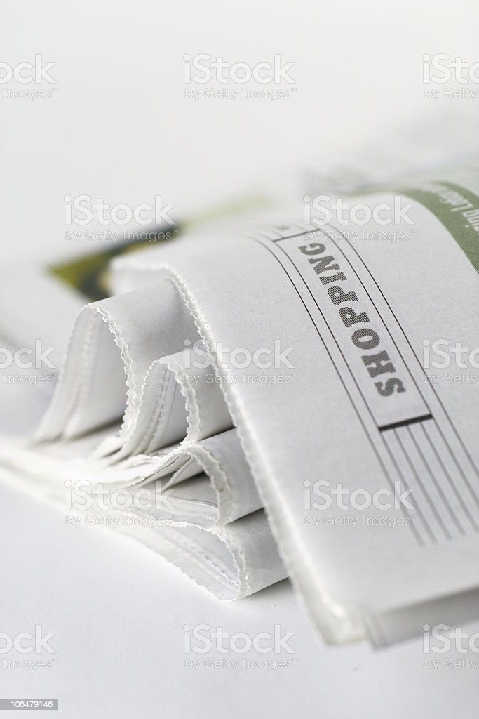 Newspaper Shopping Page royalty-free stock photo