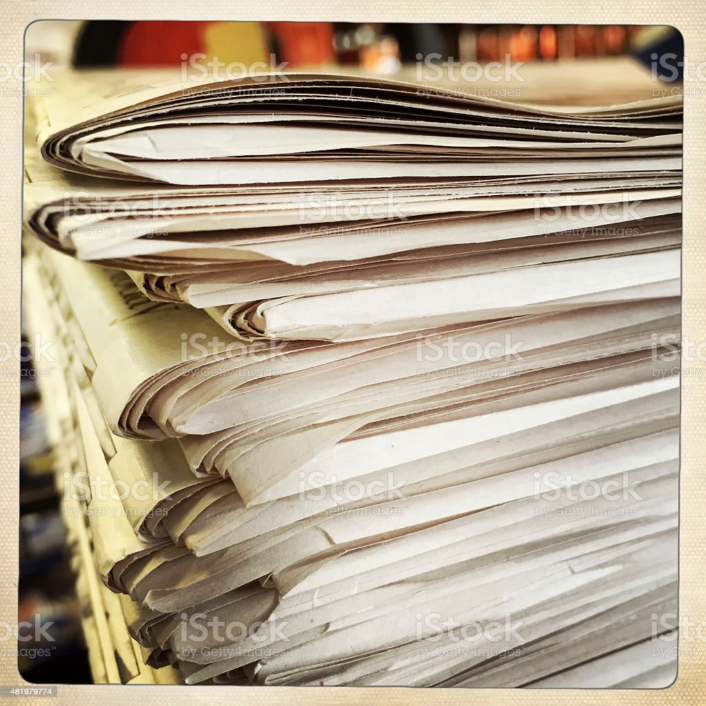 Newspaper Stack Abstract stock photo