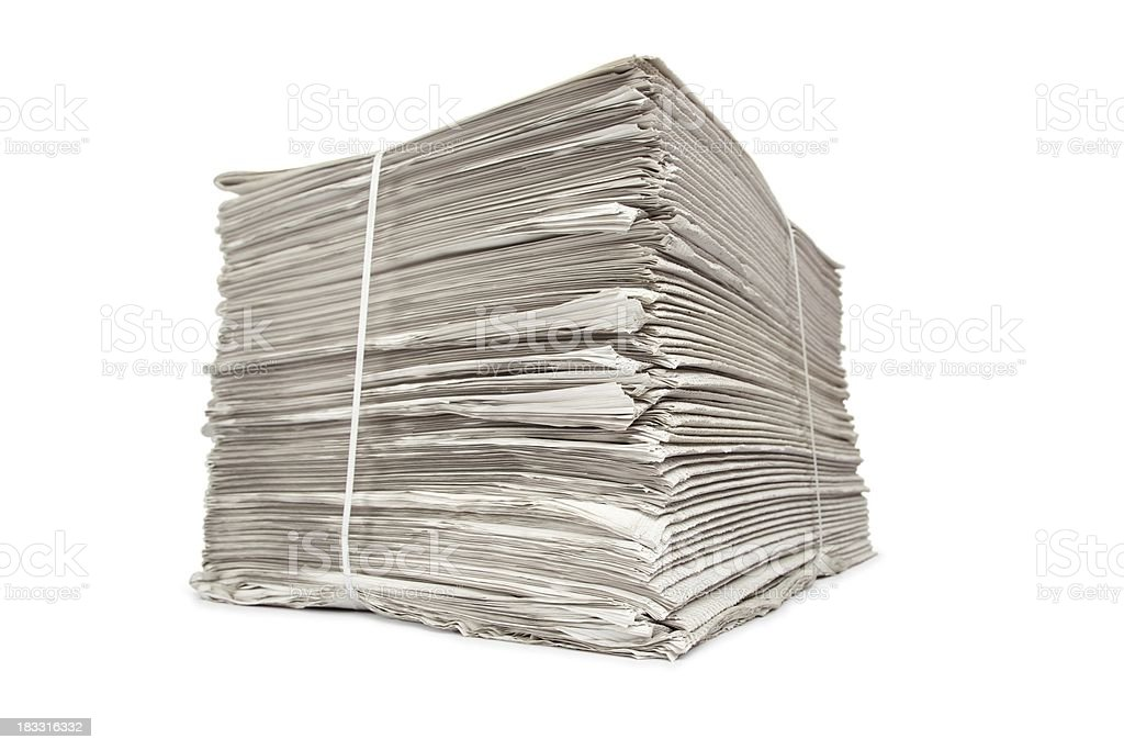 Newspaper Stack... royalty-free stock photo