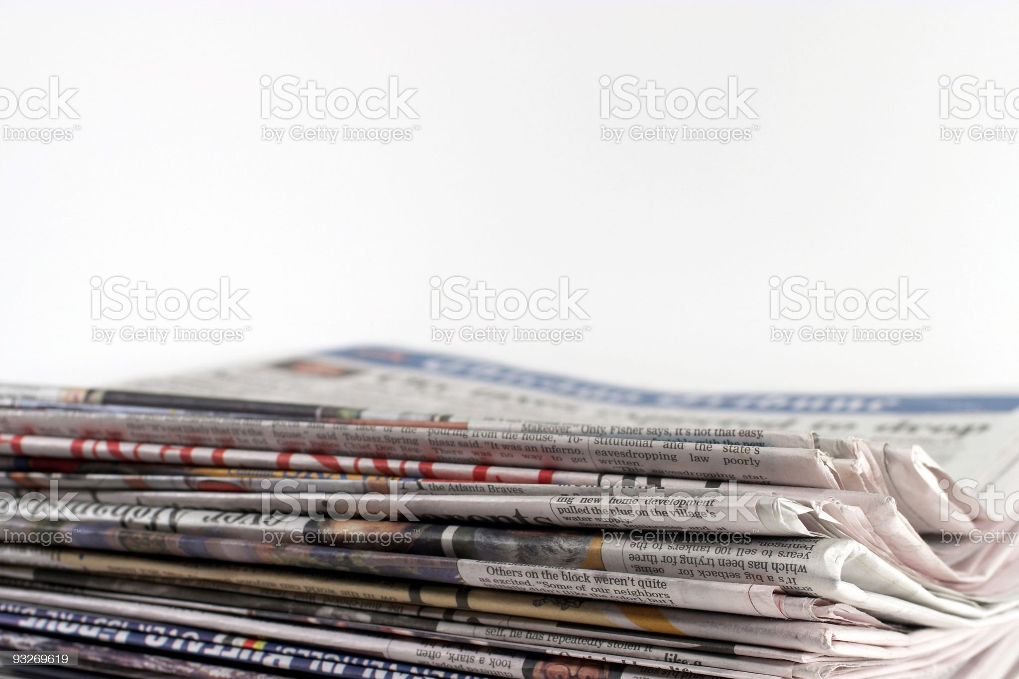 Newspaper Stack royalty-free stock photo