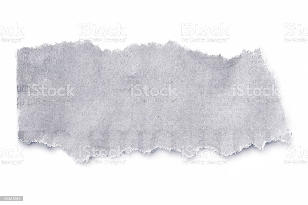 Newspaper Tear royalty-free stock photo