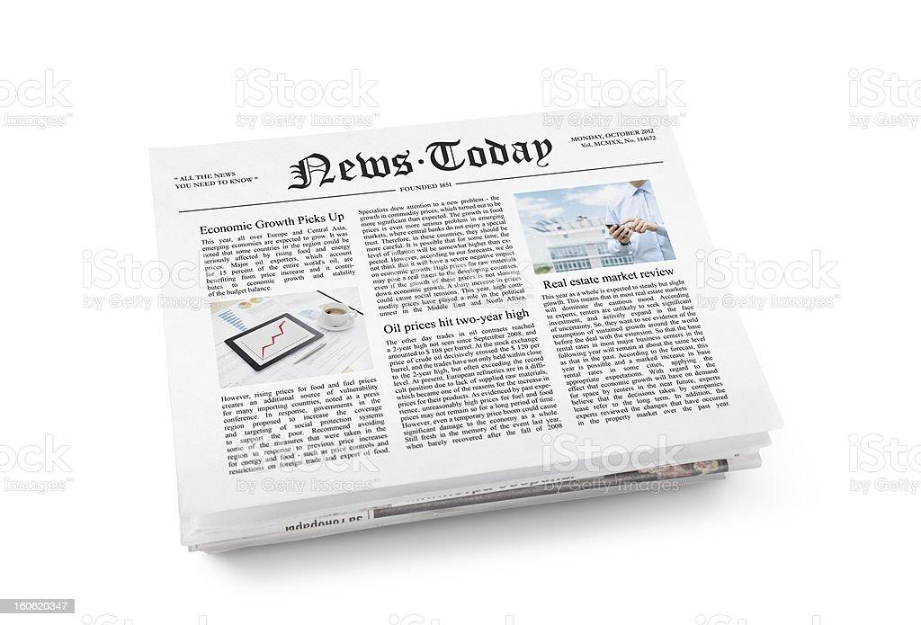 Newspaper with fresh news stock photo