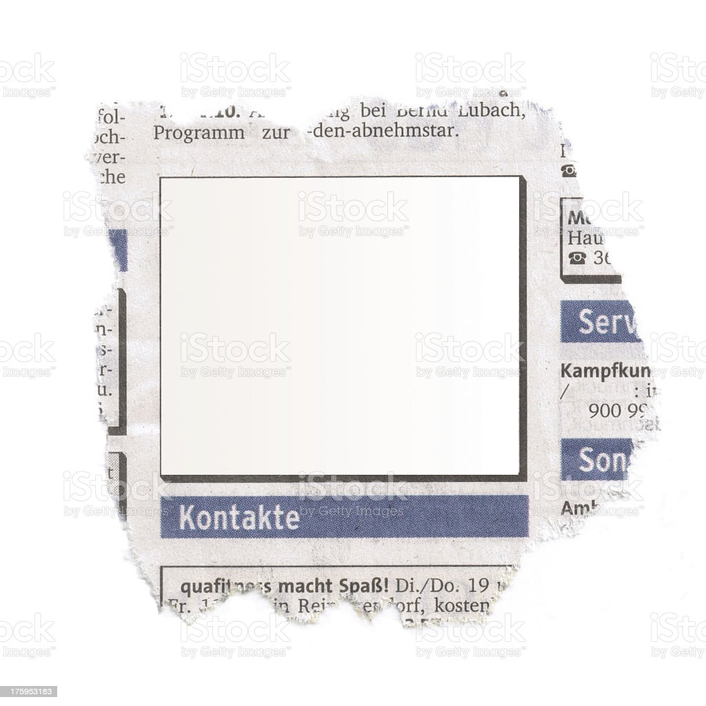 newspaper with graphic frame royalty-free stock photo