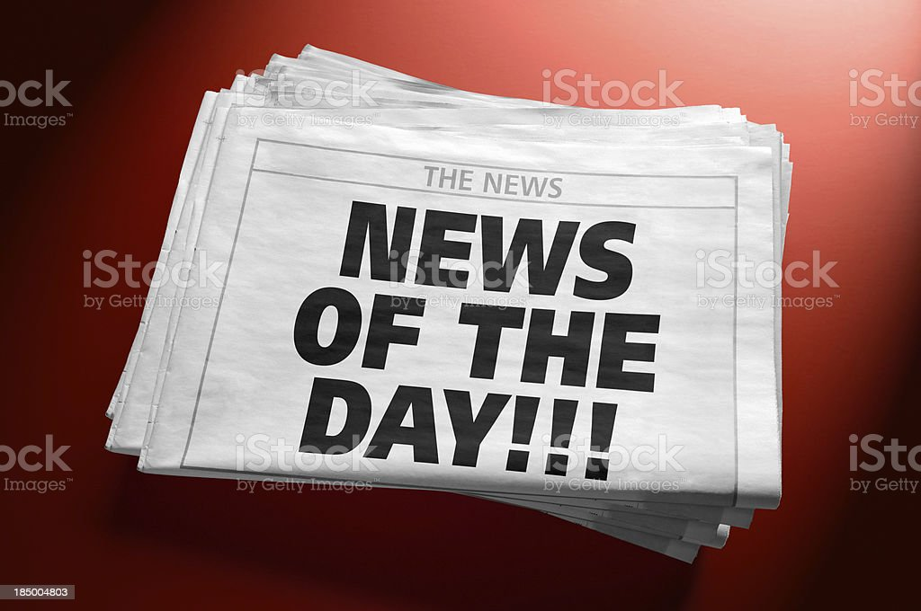 Newspaper with News of the day headline royalty-free stock photo