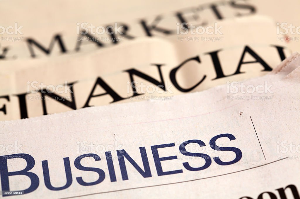 Newspapers Business, Financial and Markets stock photo